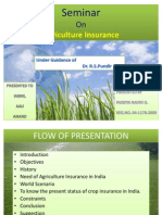 Agriculture Insurance in India