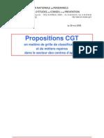 Propositions CGT en matière de métiers repères du 29 mai 2008