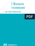 Introduction to Social Return on Investment