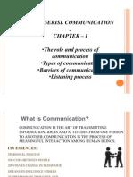 Mangerial Communication - Chaper 1