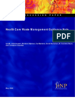Health Care Waste Management Note WHO
