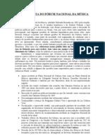 Carta Aberta FNM - Agosto 2011