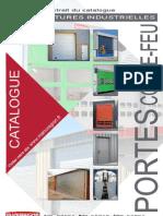 Catalogue Portes Coupe Feu