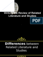 Writing the Review of Related Literature and Studies