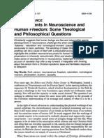 Neurosciences Human Freedom
