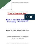 Self Sabotage E Book