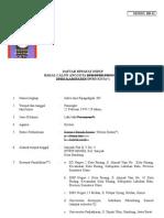 Daftar Riwayat Hidup Bb 111 (Daftar Riwayat Hidup (Bb 11))