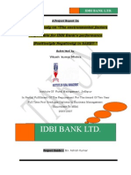 SUMMER TRAINING PROJECT REPORT ON  Idbi Bank