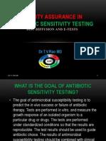 antibiotic sensitivity testing QC