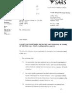 PLWC Tax Exemption