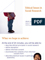 ethicalissuesinsocialresearch