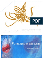 Functions of Bile Salts