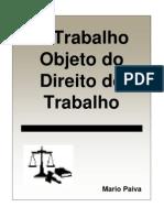 (2) 00323 - O Trabalho Objeto Do Direito Do Trabalho