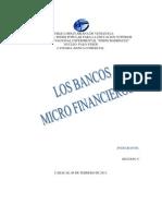 Que Son Los Bancos Microfinancieros