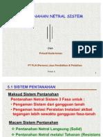 Pentanahan Netral Sistem