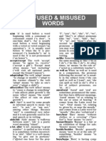Words Confused Misused