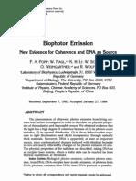 Biophoton Emission