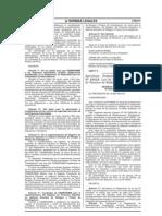 DS 039 08 EM Reglamento Ley 28028 Seguridad Radiación Ionizante IPEN