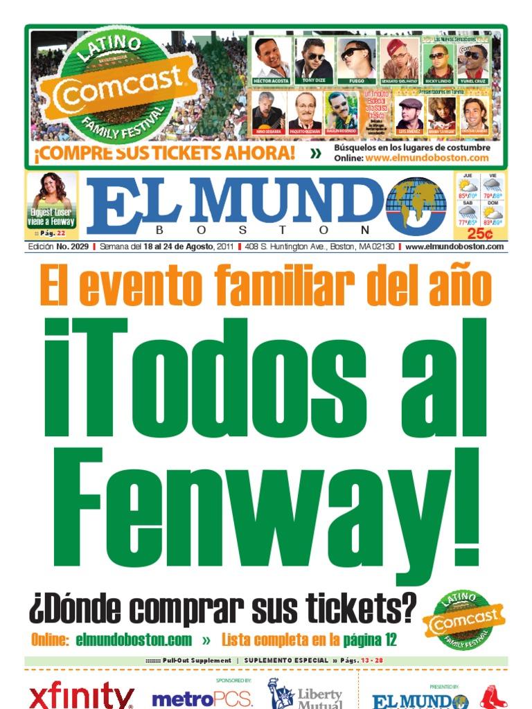 El Mundo Newspaper: No. 2029 - 08/18/11