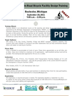 Training Wheels One-Road Bicycle Facility Design Training