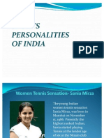 Sports personalities of India