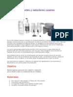 Oxidantes y Re Duct Ores Caseros_experimento