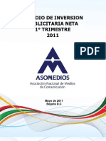 ESTUDIO INVERSIÓN PUBLICITARIA NETA 1° TRIM 2011