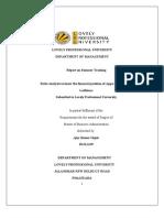 Ratio analysis of Appu International Ludhiana