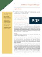 Workforce Integration Manager Datasheet