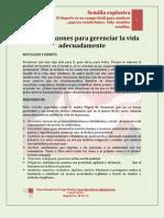 Algunas Razones Para Gerenciar La Vida Adecuadamente MARIO URREGO. 18-05-11