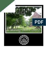 Tusculum College Catalog 2011-2012