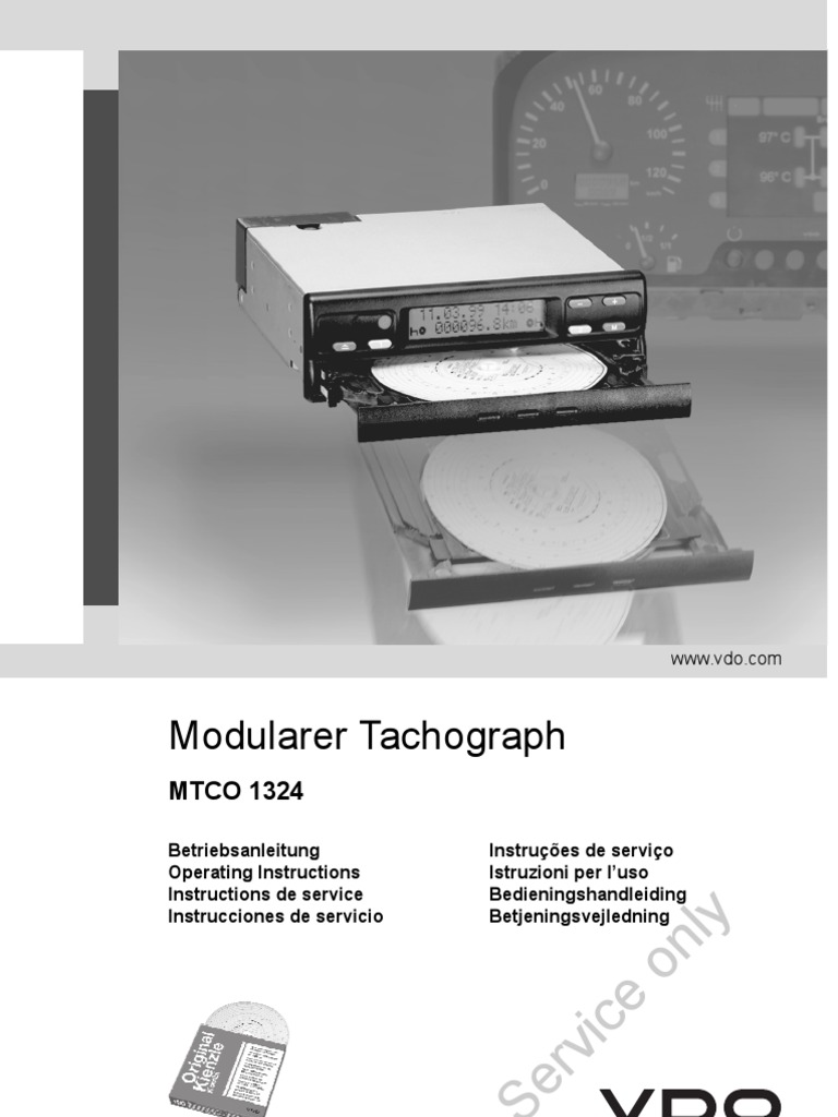 kienzle tachograph operating instructions