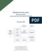 Reporte de Inflacion Diciembre 2010
