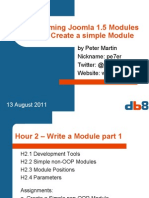 Programming Modules for Joomla 1.5, 2. Create a simple Module