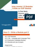 Programming Modules for Joomla 1.5, 3. Create an OOP Module