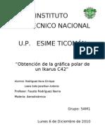 Obtencion de La Grafica Polar de Un IKARUS C42