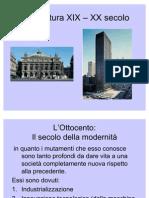 Architettura XIX - XX SECOLO