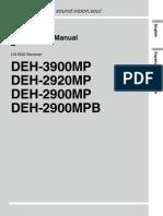 Deh-2900mp Manual en de Es