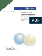 Livelink ECM - Forms API Installation Guide