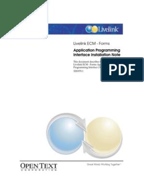 opentext livelink api