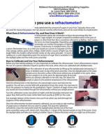 How do you use a refractometer?