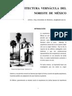 La arquitectura Vernácula del Noreste de México