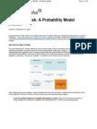 Nassim Nicholas Taleb Managing Risk a Probability Model