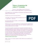 Aplicaciones Físicas y Geometricas De Productos Escalares Y Vectoriales