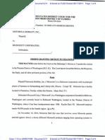 Transfer Order MSFT MMI - S. Florida to W. Washington