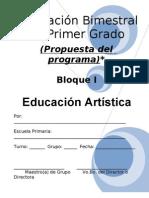 1er Grado - Bloque I - Educación Artística