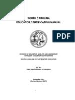 Teacher Certification Manual