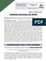 Informe de 17 de agosto de 2011 do Comando Nacional de Greve (2)