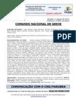 Informe de 17 de agosto de 2011 do Comando Nacional de Greve (1)