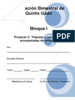 5to Grado - Bloque I - Proyecto 2